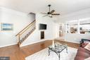 Family Rm w/Back Staircase  to Upper Level - 11364 JACKRABBIT CT, STERLING