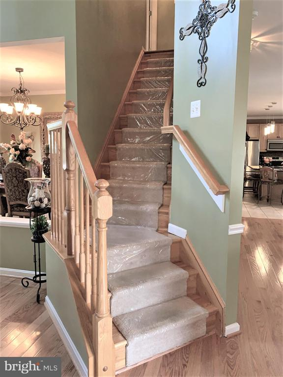 Stairs to upper level - 1913 MORAN DR, FREDERICK