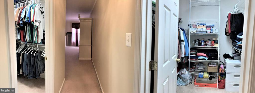 His / Hers walk in closets - 1913 MORAN DR, FREDERICK