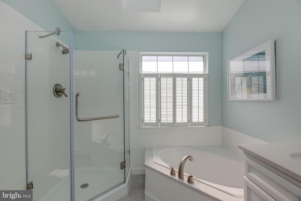 Newly remodeled primary bathroom - 14641 STREAM POND DR, CENTREVILLE