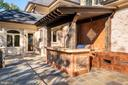 Terrace with Outdoor Kitchen - 7853 LANGLEY RIDGE RD, MCLEAN