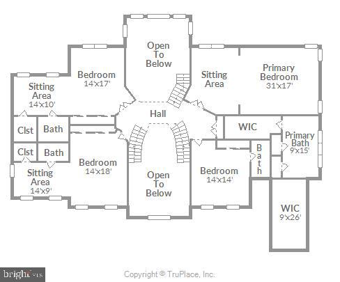 Upper level - note all rooms en suite. - 19722 WILLOWDALE PL, ASHBURN