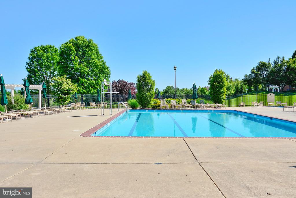 Outdoor swimming pool - 19722 WILLOWDALE PL, ASHBURN