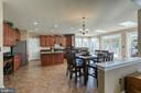 Gourmet kitchen with cherry cabinets - 116 CHRISWOOD LN, STAFFORD