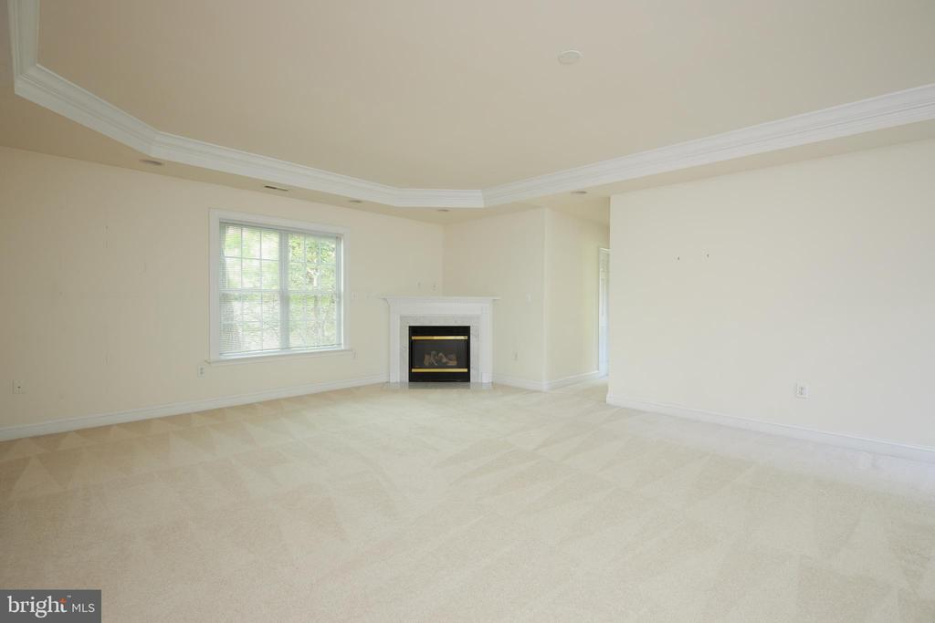 Owner's Suite Sitting Area & Gas Fireplace - 5517 SOUTHWICK ST, BETHESDA