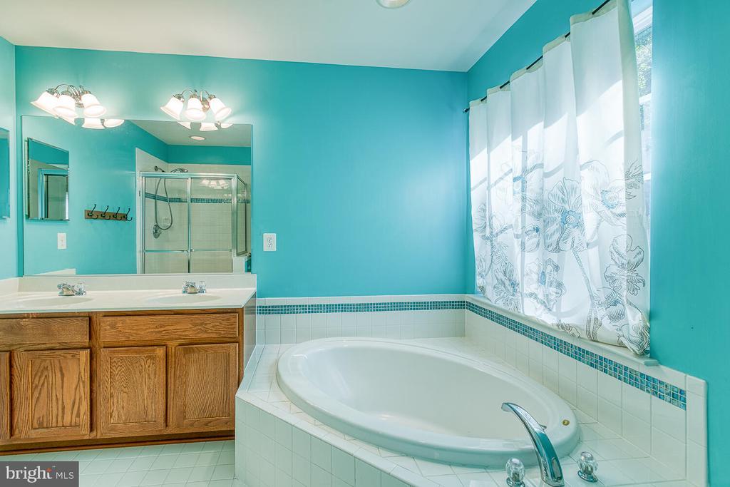 Large master bathroom with soaking tub - 116 MACON DR, STAFFORD