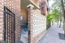 Gated door from the patio to 11th St - 1050 N STUART ST #126, ARLINGTON