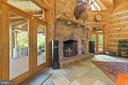 Wood Burning Fireplace & View of Deck - 12904 & 12898 SAGLE RD, HILLSBORO