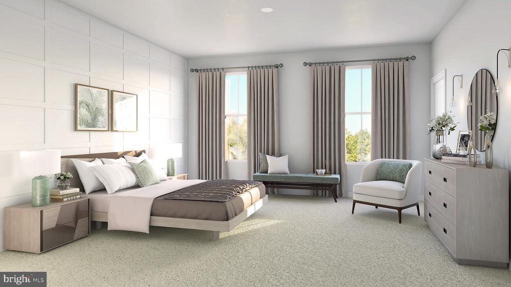 SAMPLE RENDERING - OWNER'S BEDROOM - 01 SHIRE MEADOW, DUMFRIES
