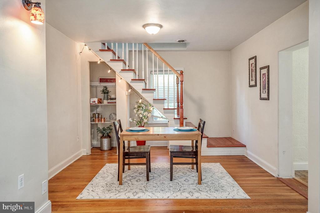 Dining Room with Original Hardwood Floors - 7019 SIGNAL HILL RD, MANASSAS