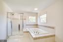 Soaking tub and large tiled shower - 81 FOUNTAIN DR, STAFFORD