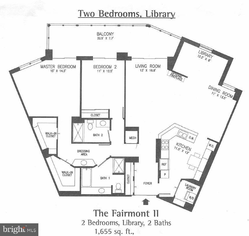 Brilliant 2 bedroom plus den floor plan - 19350 MAGNOLIA GROVE SQ #211, LEESBURG