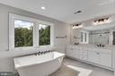 Master Bathroom with stand-a-lone large tub - 3414 BURROWS AVE, FAIRFAX