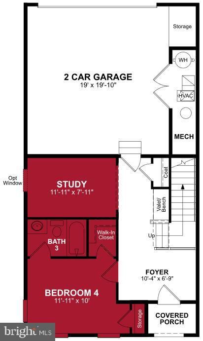First Level Floor Plan - 17655 FALCON HEIGHTS ST, DUMFRIES