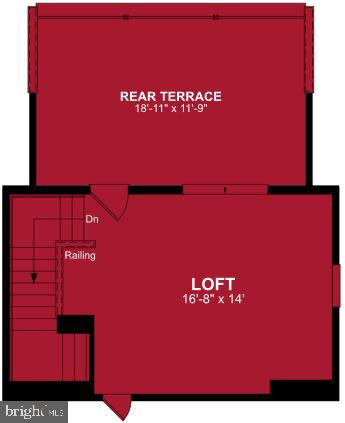 Fourth Level Floor Plan - 17663 FALCON HEIGHTS ST, DUMFRIES