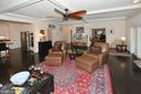 Great room with office through double doors - 7614 CHESTNUT ST, MANASSAS