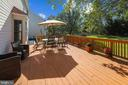 Well maintained deck, private back yard! - 43207 SUMMITHILL CT, ASHBURN