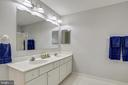 M-Bath with double vanity, lots of cabinet space. - 43207 SUMMITHILL CT, ASHBURN