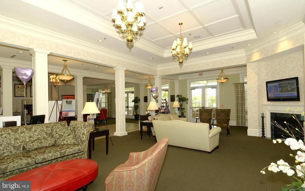 Clubhouse  Lobby - Lots of fun times here - 20590 HOPE SPRING TER #104, ASHBURN