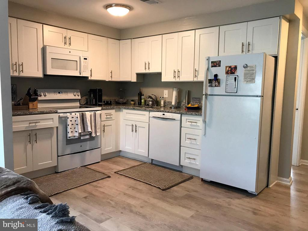 Remodeled kitchen with granite counters - 46 N BEDFORD ST #46B, ARLINGTON