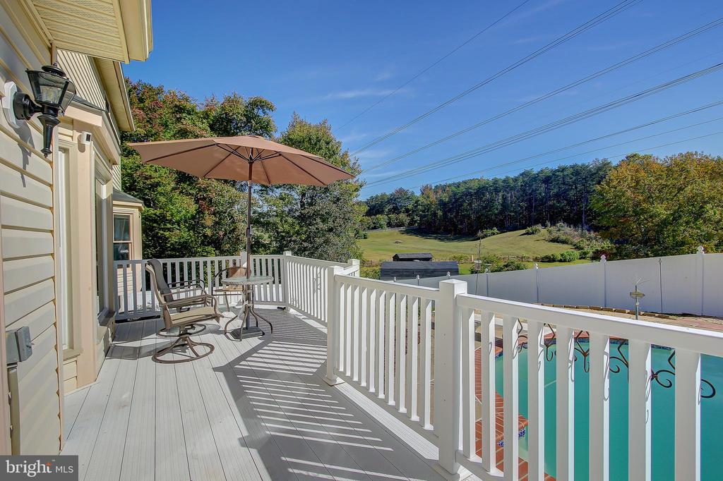 Deck Just Off Of The Heated In-Ground Pool - 8 LITTLE ROCKY RUN LN, STAFFORD