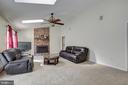 Spacious Family Room w/ Wood Burning Fireplace - 8 LITTLE ROCKY RUN LN, STAFFORD
