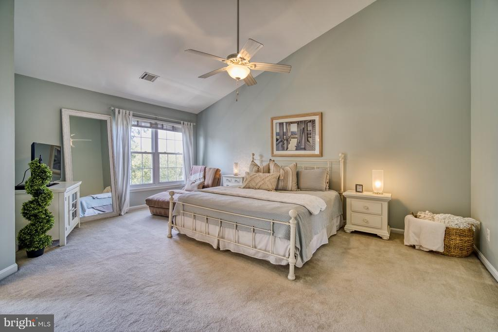 Spacious Primary Bedroom with Vaulted Ceiling - 14794 TRUITT FARM DR, CENTREVILLE