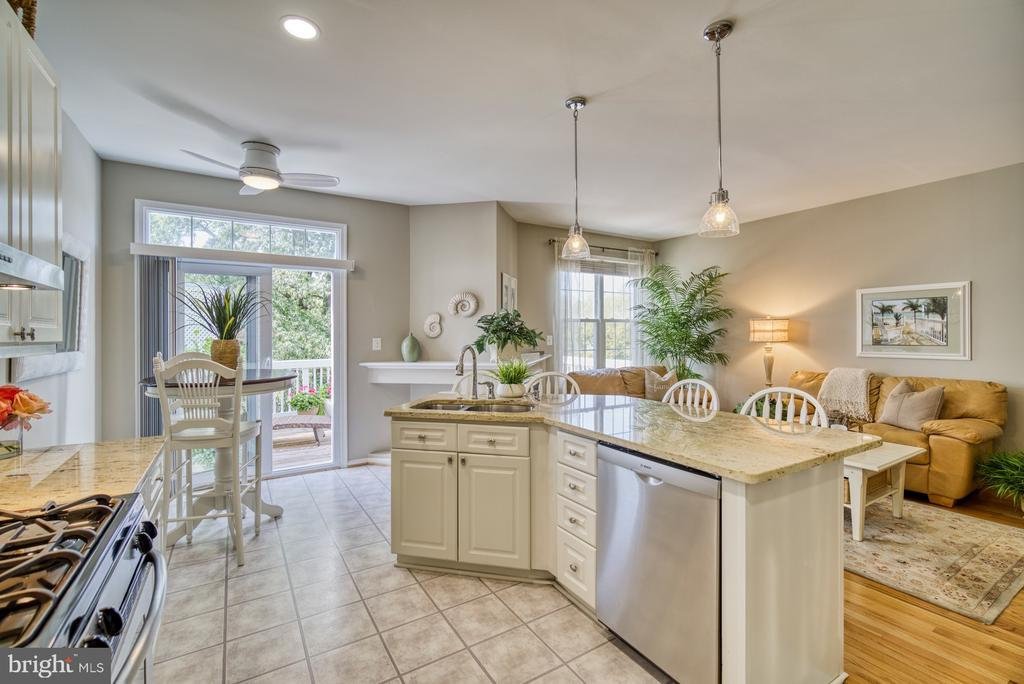 Remodeled Kitchen - Granite Countertops - 14794 TRUITT FARM DR, CENTREVILLE