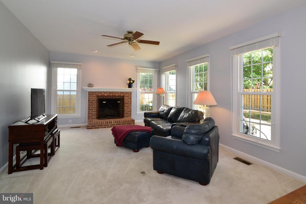 Light fills the family room - 915 SPRING KNOLL DR, HERNDON