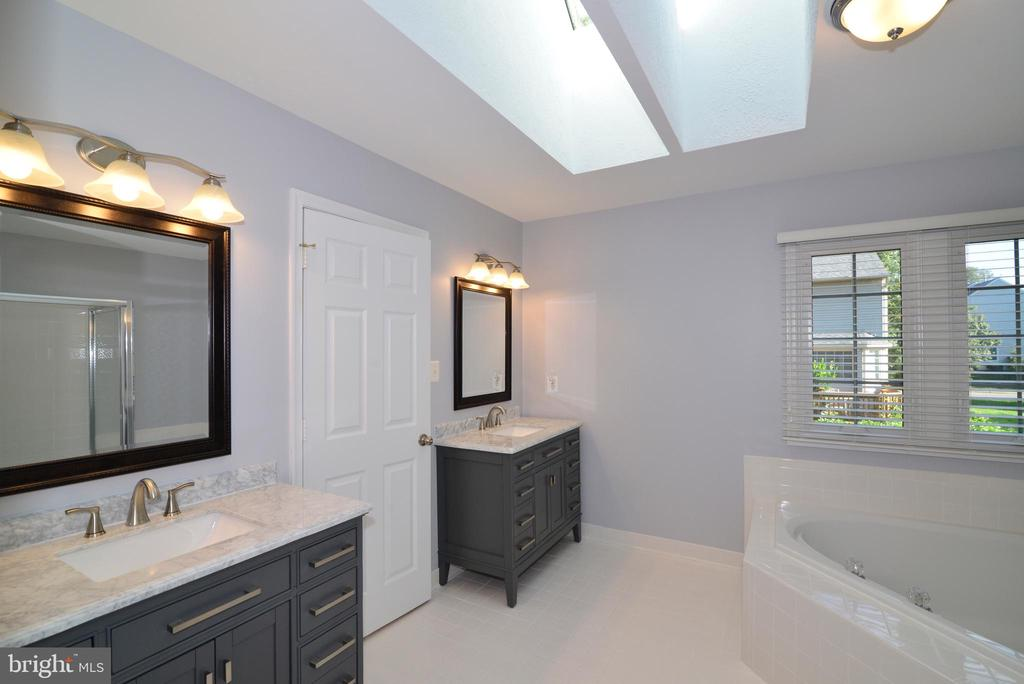 Master Bath with skylights -updated in 2020 - 915 SPRING KNOLL DR, HERNDON