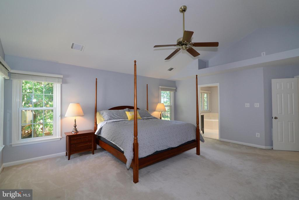 Master Bedroom with cathedral ceiling - 915 SPRING KNOLL DR, HERNDON