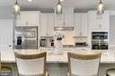 Kitchen island - 42643 LANCASTER RIDGE TER, CHANTILLY
