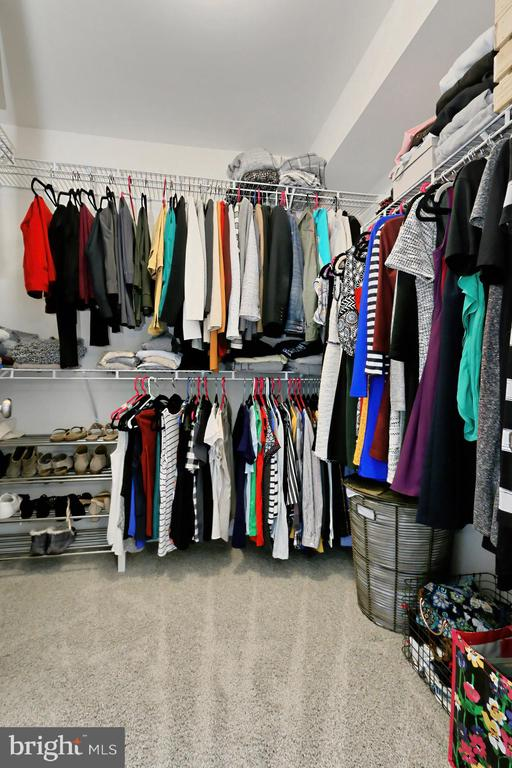 One of two primary closets - 42643 LANCASTER RIDGE TER, CHANTILLY