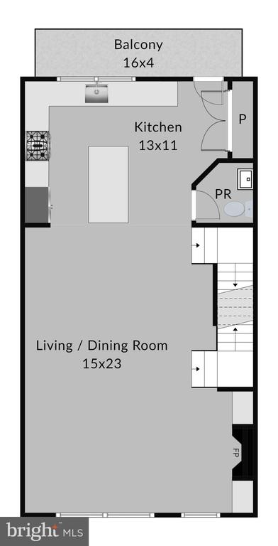 2nd level floorplan - 2990 DISTRICT AVE, FAIRFAX