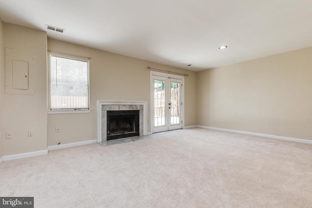 LL family room with wood-burning fireplace - 9698 POINDEXTER CT, BURKE