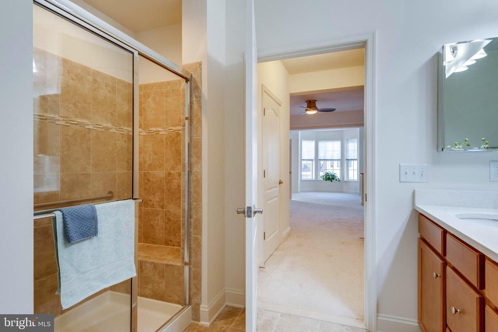 Large shower w/ bench & grab bars - 9202 CHARLESTON DR #301, MANASSAS