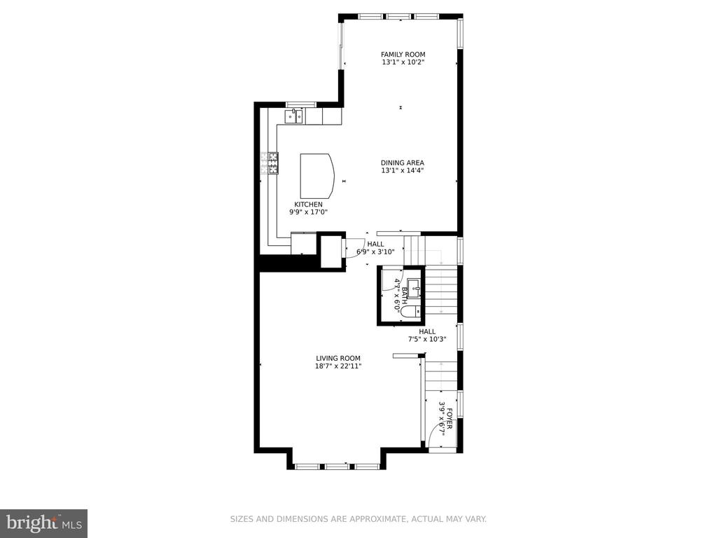 Main Level Floor Plan - 7 FLINT CT, STAFFORD