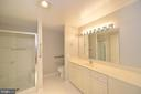 Master bedroom private bath view 1 - 19350 MAGNOLIA GROVE SQ #211, LEESBURG