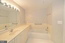 Master bath view 2 - 19350 MAGNOLIA GROVE SQ #211, LEESBURG