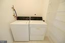 Laundry room with built-ins accessed from kitchen - 19350 MAGNOLIA GROVE SQ #211, LEESBURG