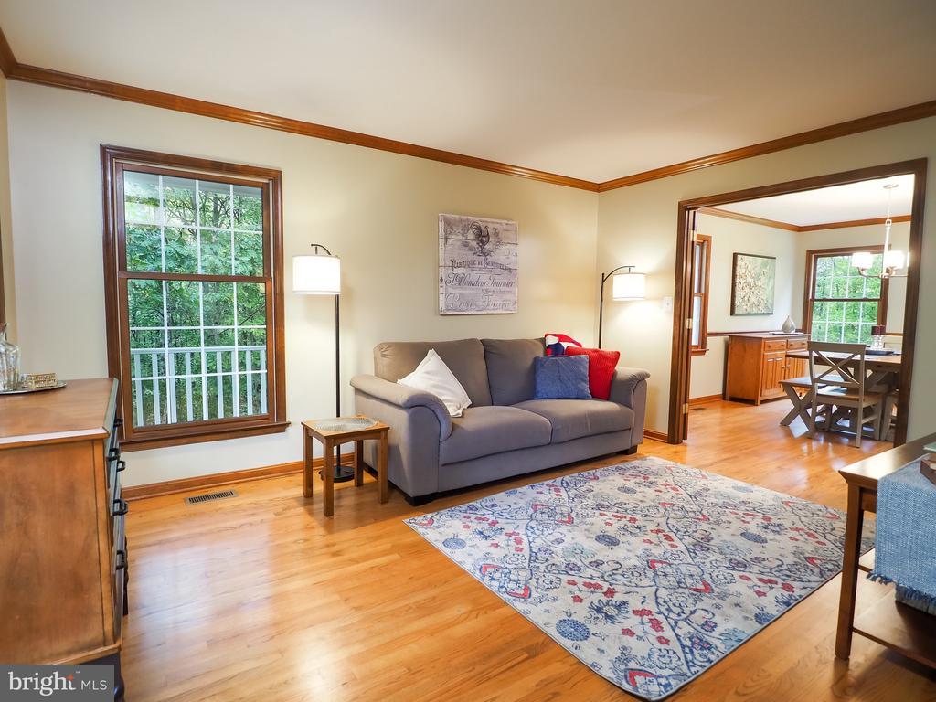 Formal living room with beautiful hardwoods - 7755 WALLER DR, MANASSAS