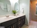 Hall bath  has separate shower/tub/toilet area - 7755 WALLER DR, MANASSAS