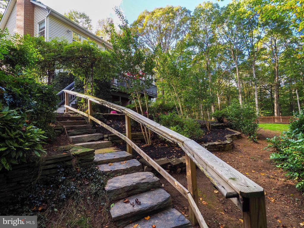 Stone walkway in backyard - 7755 WALLER DR, MANASSAS