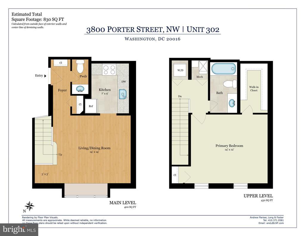 Floor Plan - 3800 PORTER ST NW #302, WASHINGTON