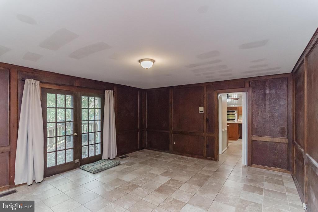 FRENCH DOORS LEADING TO DECK - 8052 COUNSELOR RD, MANASSAS