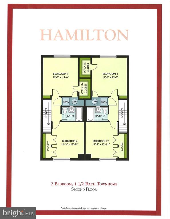 1st level floor plan - 1403 N VAN DORN #C, ALEXANDRIA