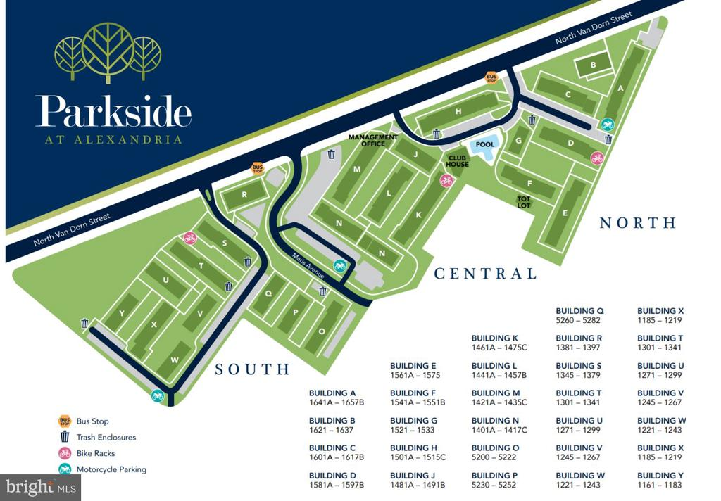 Map of Parkside community - 1403 N VAN DORN #C, ALEXANDRIA