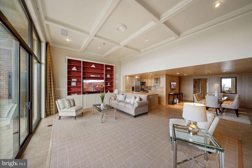 Living Room - 1401 N OAK ST #608, ARLINGTON