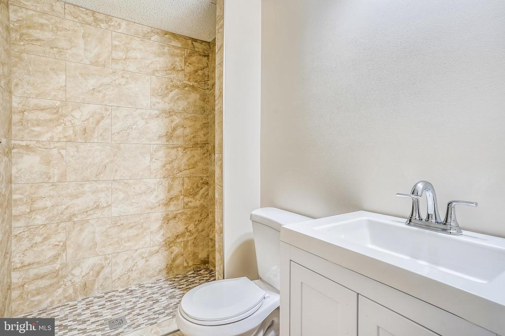 Brand new bathroom on lower level - 20689 CARNWOOD CT, STERLING