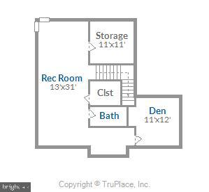 Lower Level Floor Plan - 20689 CARNWOOD CT, STERLING